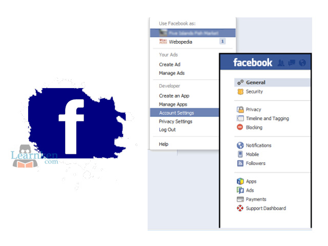 Facebook Account Settings - Facebook General Account Settings | Facebook Account Setting Menu